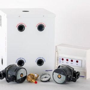 Combi boiler, two heating zones
