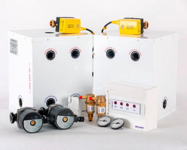 one underfloor heating zone one radiator zone hot water tank